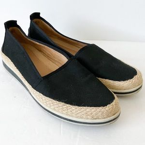 Naturalizer black espidrille loafers